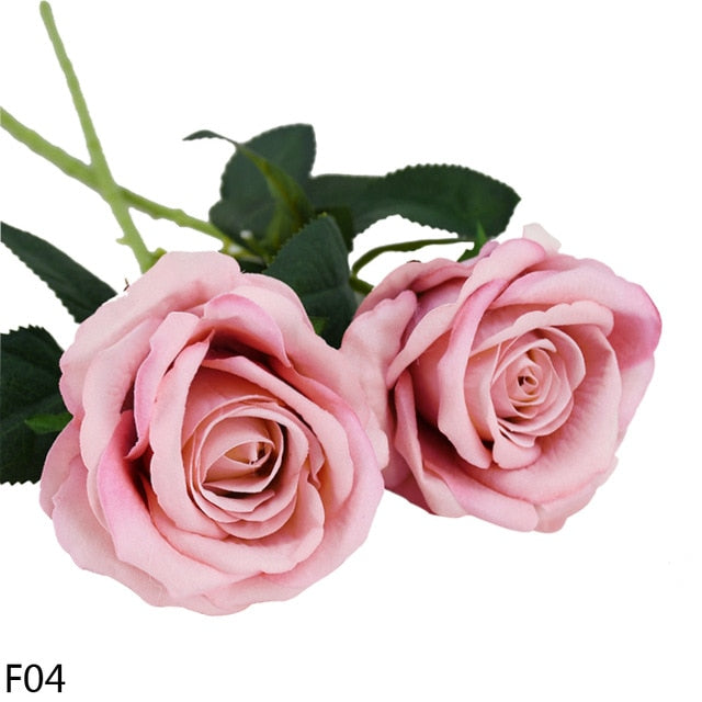 European Artificial Flowers Rose - VintageAndRusticWeddings