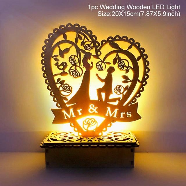 Wooden Mr&Mrs Wedding Decoration Rustic Wedding Decoration or Gifts