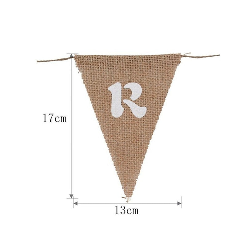 Candy Bar DIY Jute Rope Flax Wedding Banner - VintageAndRusticWeddings