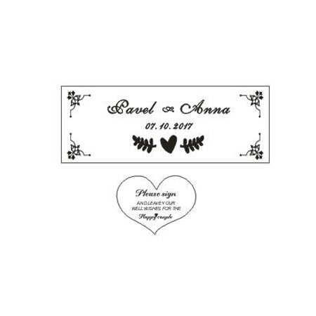 Wedding Guest Book with Hearts