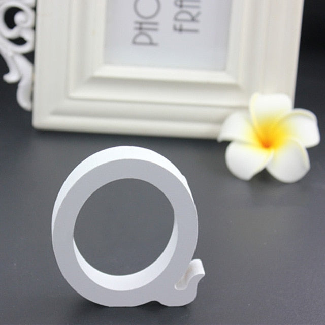 15cm White Wooden Letters Wedding