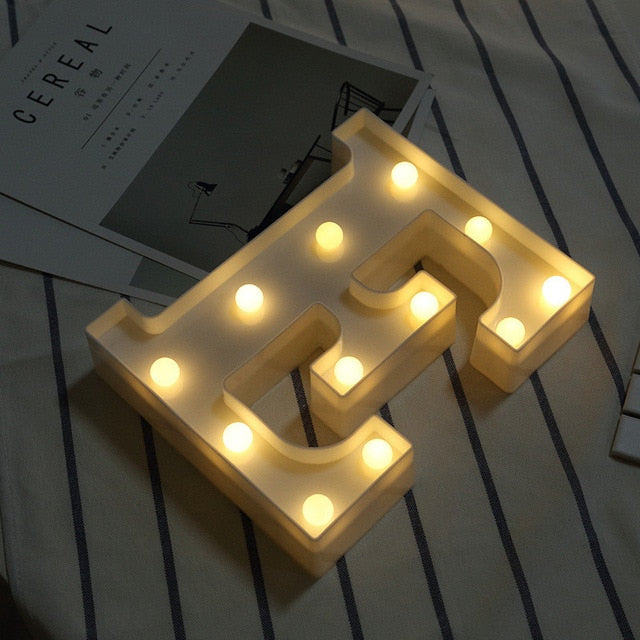 DIY Heart Letter LED Lights