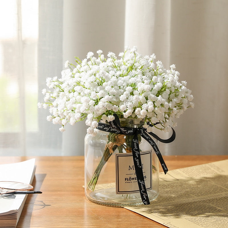 20 cm White Artificial  Gypsophila Flower Bunch