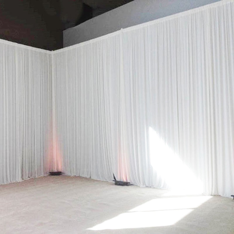 Wedding Backdrop Transparent Silk Drape Curtain