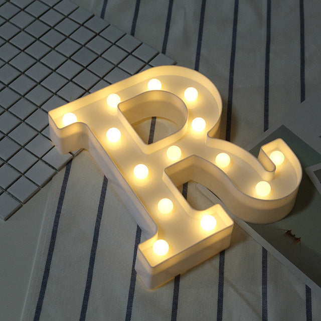 DIY Letter Symbol Sign Heart Lighting