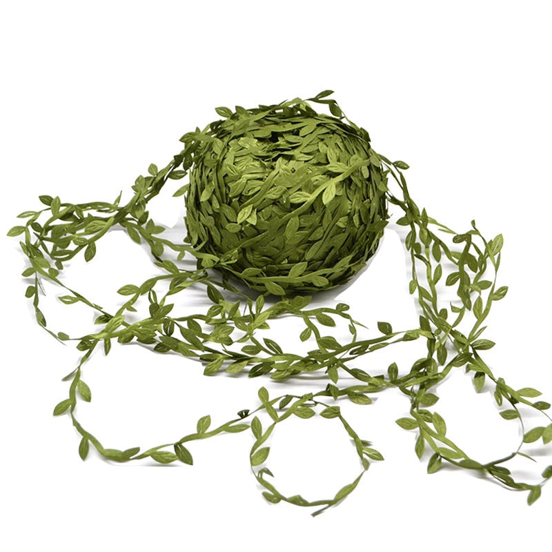 10 Metres Silk Leaf Handmade Artificial Green Vine