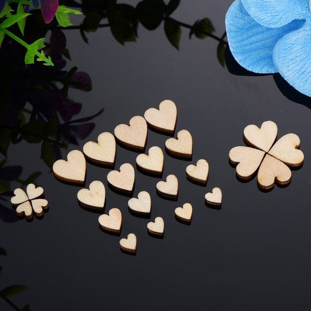 Love Heart Shape Wedding Table Scatter - VintageAndRusticWeddings