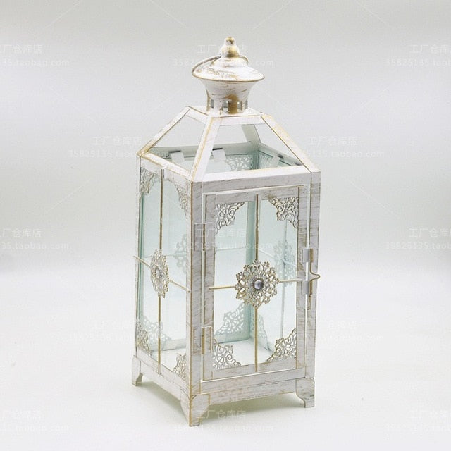 Nordic Retro Iron Candle Lantern