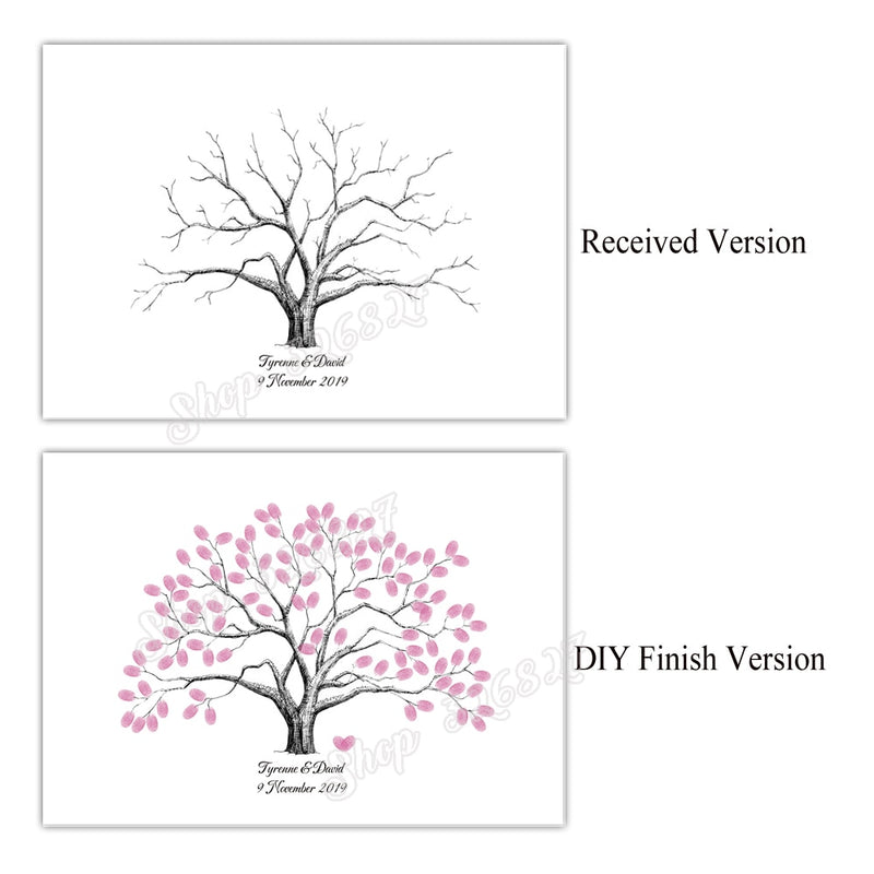 Wedding Tree Fingerprint Signature Guest Book