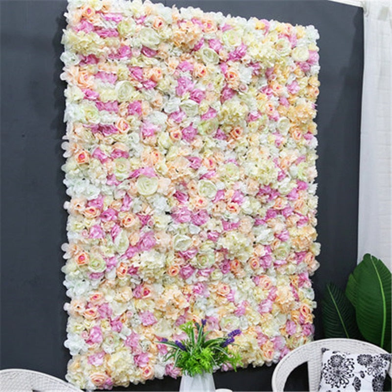 Customized 40*60cm Artificial  Wall  Fake Flower