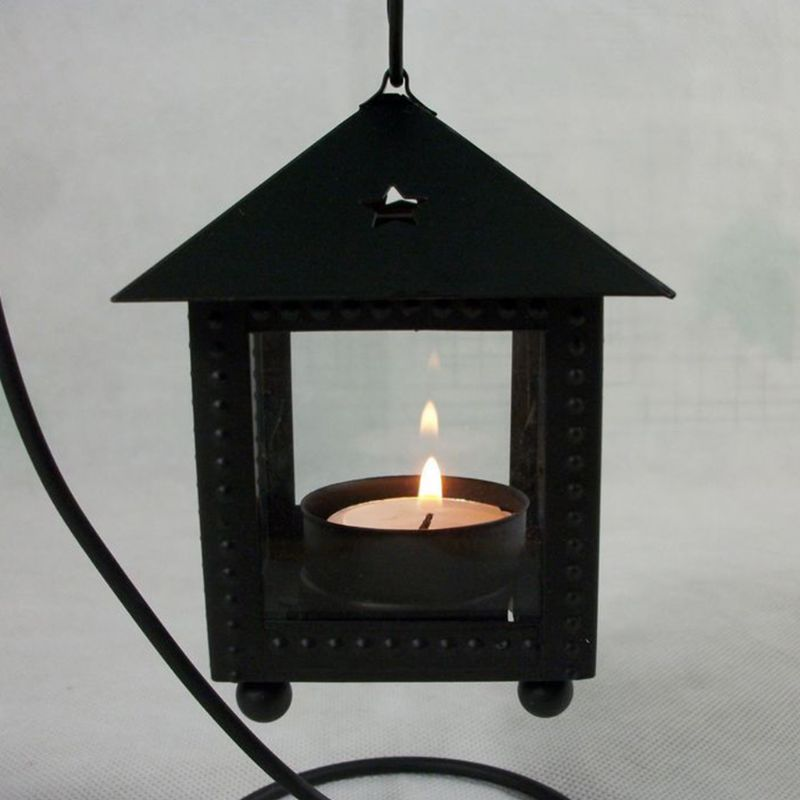 Black/White Romantic Candle Holder - VintageAndRusticWeddings