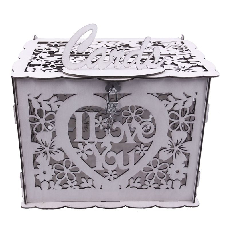 DIY Wooden Lock Wedding Letter Box