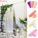 5m/10m Wedding Sheer Fabric Crystal Organza Tulle Roll