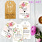120 Piece Set Personalised Rectangular Wedding Tags
