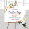 Peony Floral Welcome Sign - VintageAndRusticWeddings
