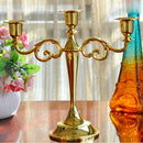 Hot Metal Silver/Gold Plated Candle Holders - VintageAndRusticWeddings