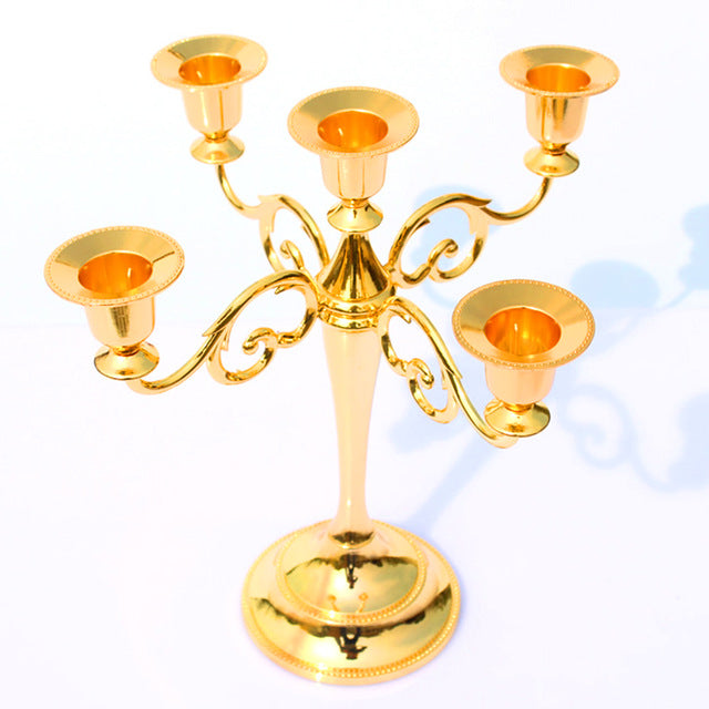 Metal Silver/Gold Plated Candle Holder