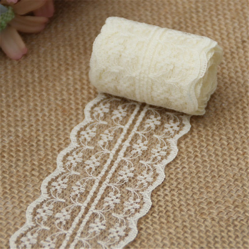 10m x 4.5cm Roll of Vintage Style Lace