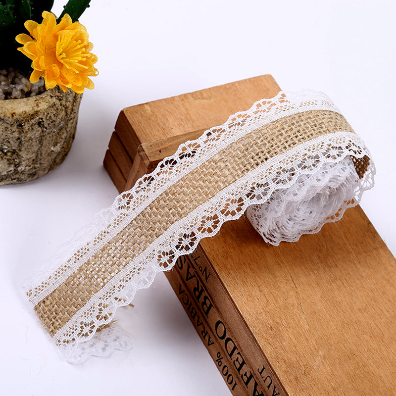 2M Rustic Natural Jute Ribbon
