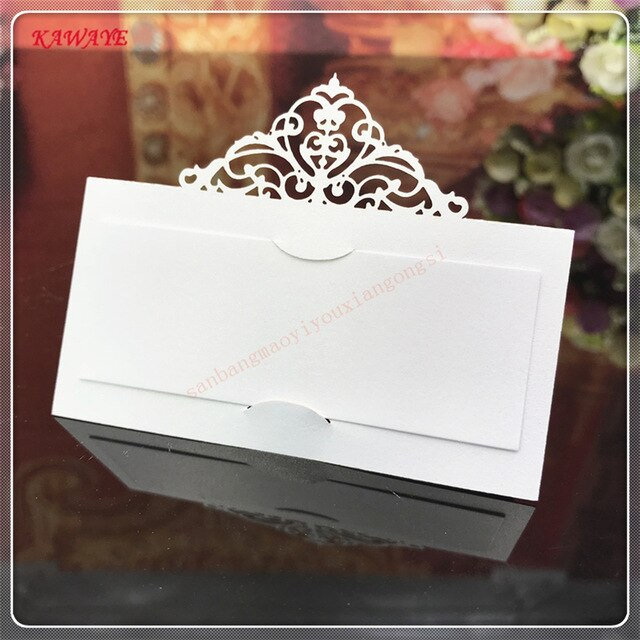 100 pieces Engagement and Wedding Place Name or Table Number Cards