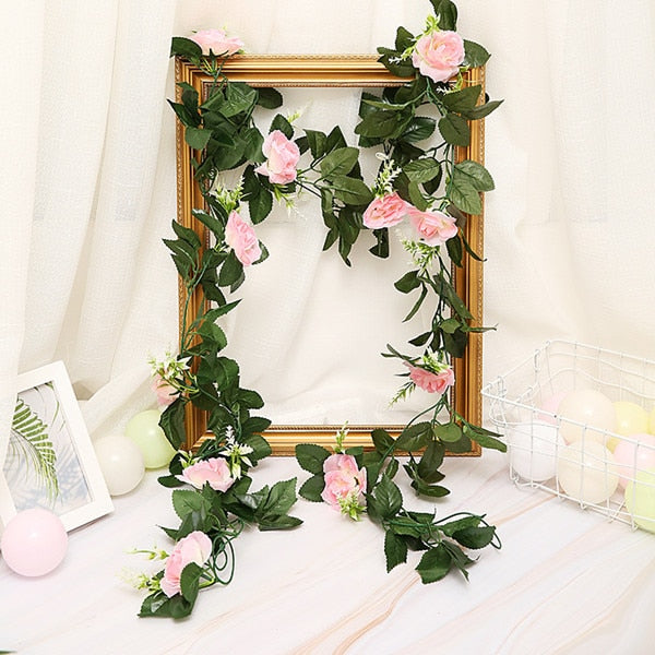 2.5m/8.2ft Artificial Flower Silk Flower Garland - VintageAndRusticWeddings