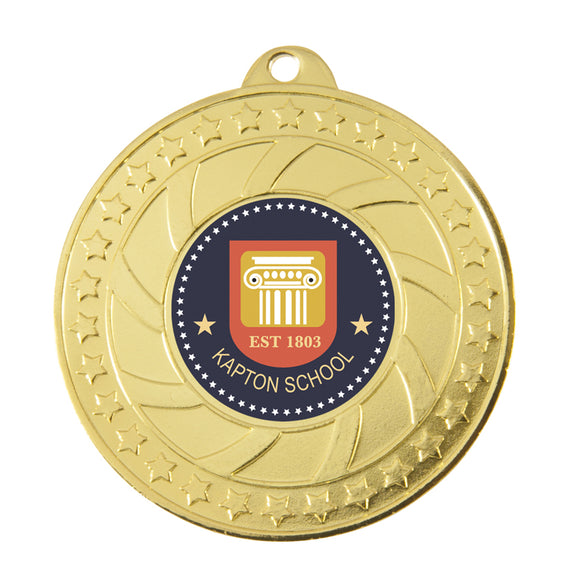 Budget Medal with patterned design