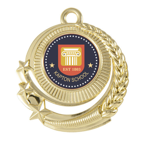 Budget Star Wreath Medal with logo
