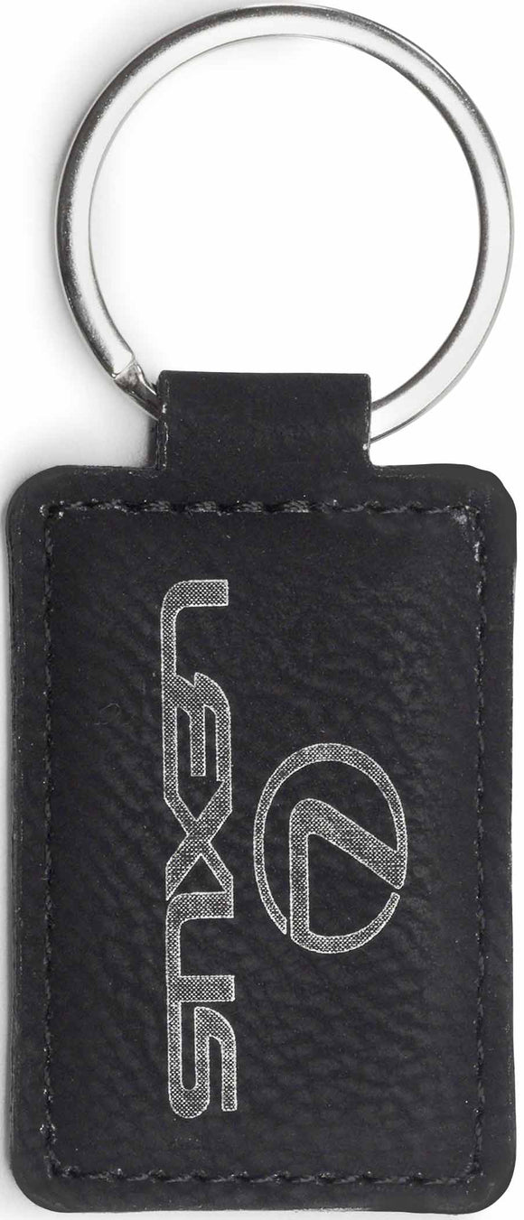 Keyring Leatherette Rectangle