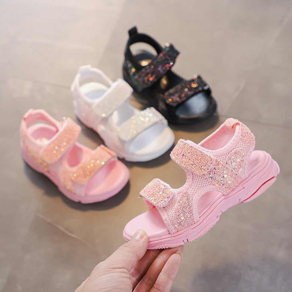 Summer baby girl shoes Mesh Bling Sequins