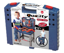 "Load image into Gallery viewer, 16"" Pretend Tool Set Workbench For Kids"