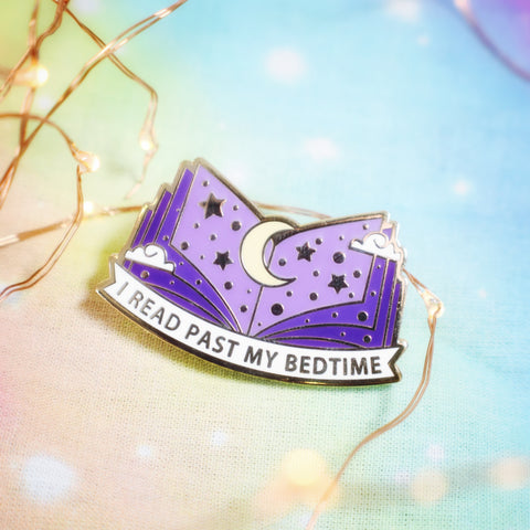I Read Past My Bedtime Enamel Pin