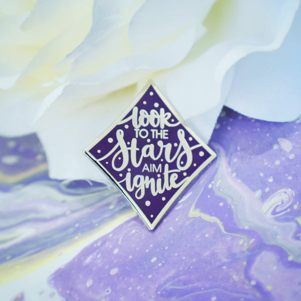 Look To The Stars Enamel Pin