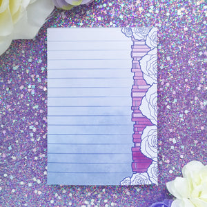Pastel Floral Bookstack Notepad