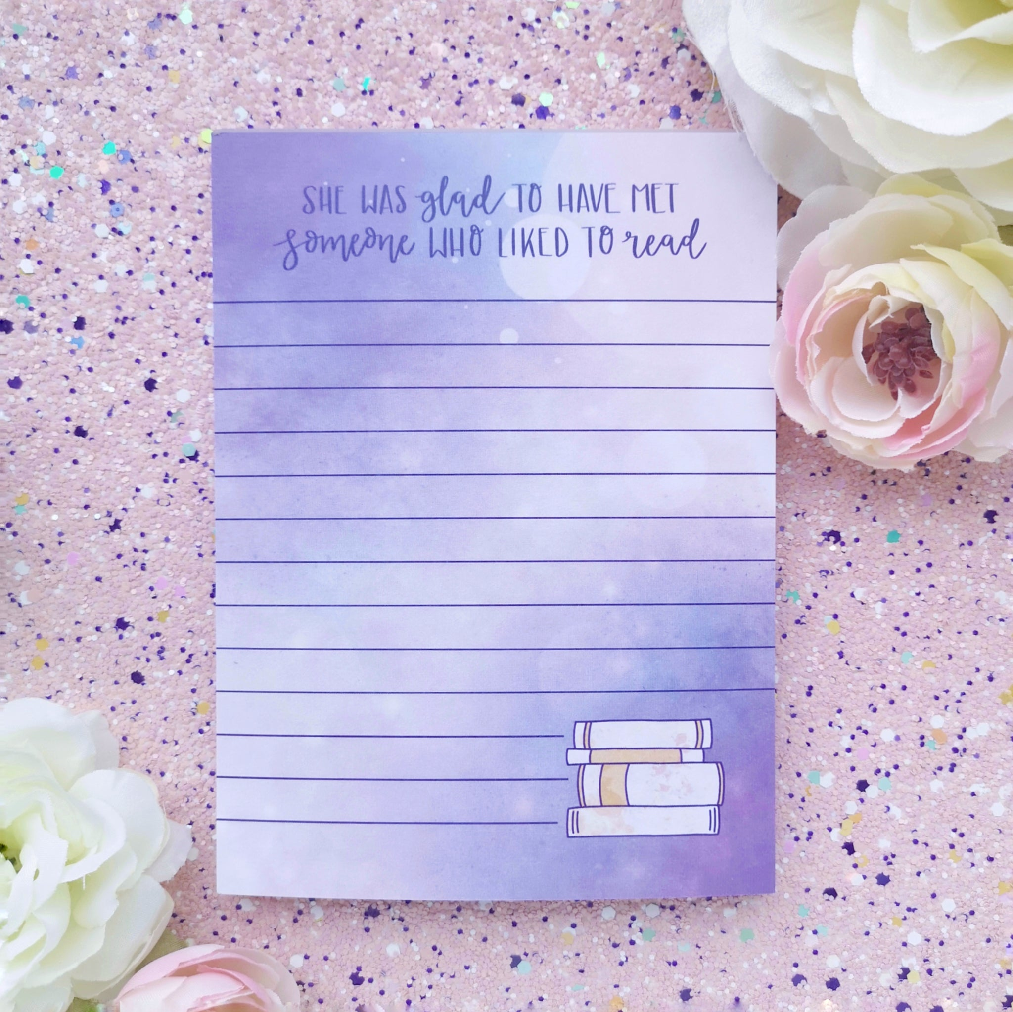 She Was Glad To Have Met Someone Who Liked To Read Quote Notepad