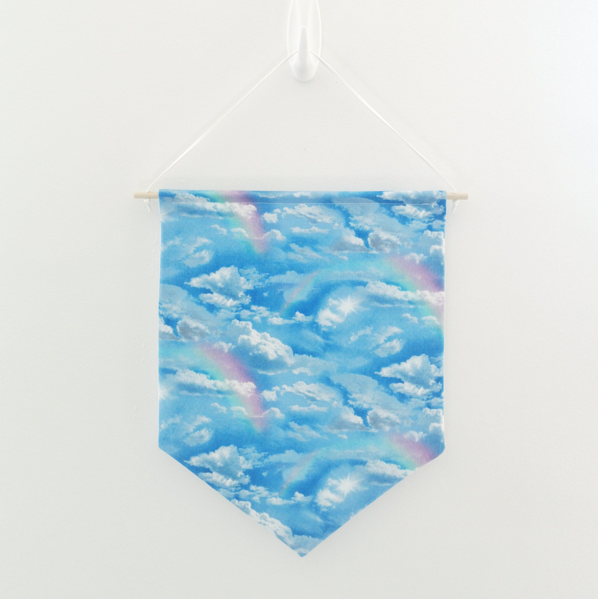 Light Clouds and Rainbows Pin Banner