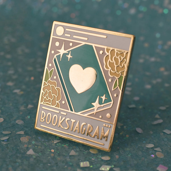 Bookstagram Enamel Pin - Light Mode