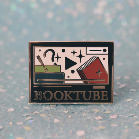 *NEW* Booktube Enamel Pin - Dark Mode