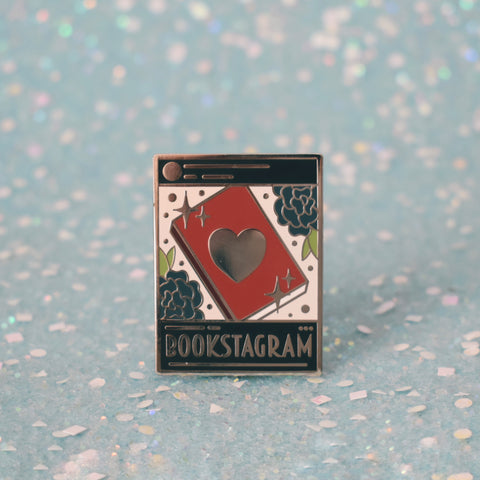 *NEW* Bookstagram Enamel Pin - Dark Mode