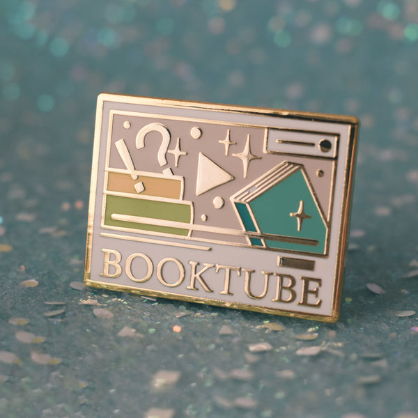 Booktube Enamel Pin - Light Mode