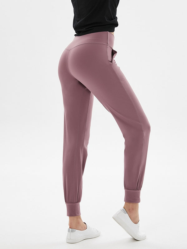High Waist Squatproof Fitness Ankle-Length Joggers - Leggings