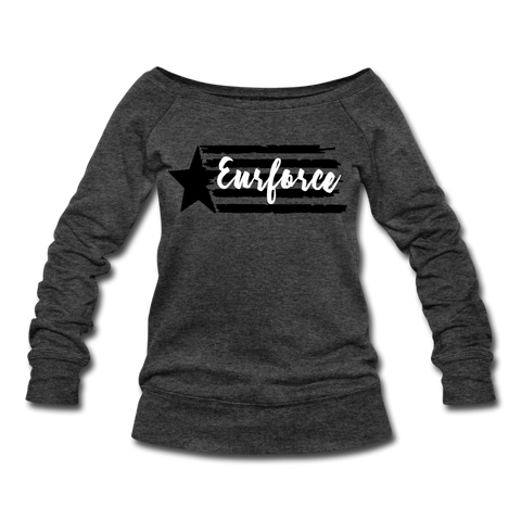 Women's Wideneck Sweatshirt - heather black (4872130035794)