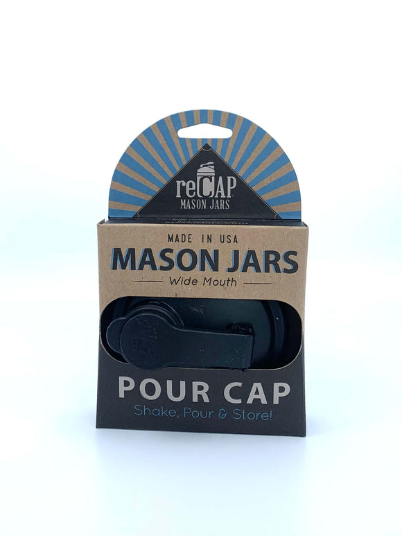 reCAP Mason Jar Pour Cap - Wide Mouth