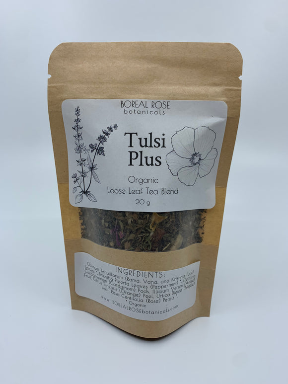 Boreal Rose Botanicals Tulsi Plus Tea 20g