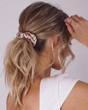 Load image into Gallery viewer, Luxury Silk Champagne Scrunchie