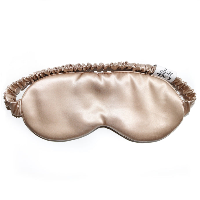 Luxury Silk Champagne Eye Mask