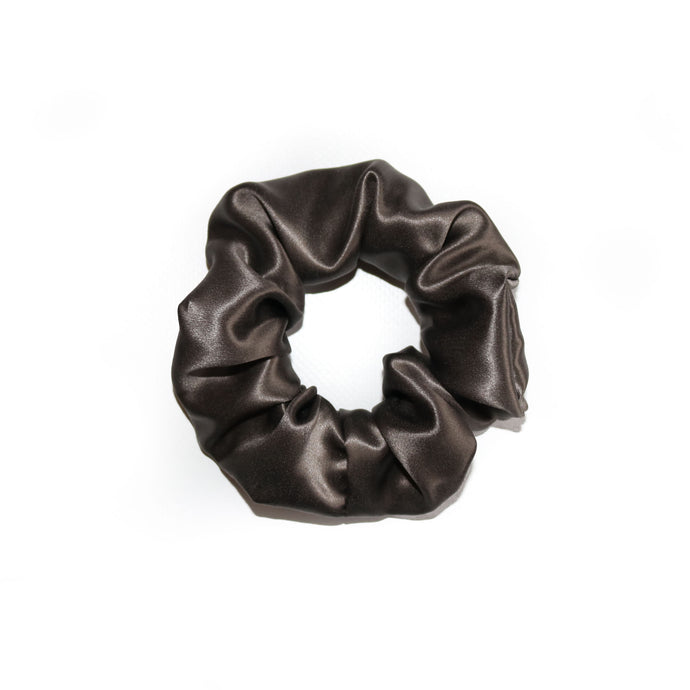Luxury Silk Charcoal Scrunchie