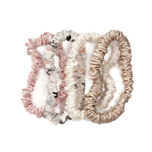 Luxury Silk Skinny Scrunchie Bundle - Dusk Collection