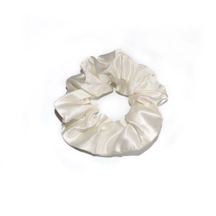 Luxury Silk Ivory Scrunchie