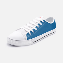 Load image into Gallery viewer, FAIS - Unisex Low Top Canvas Shoes - Blue & Red