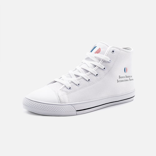 FAIS - Unisex High Top Canvas Shoes - Ankle Logo